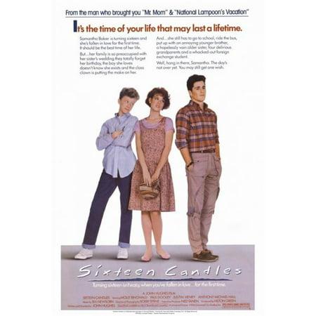 Pop Culture Graphics Movgd4803 Sixteen Candles Movie Poster 44 11 X 17 Walmart Com Walmart Com