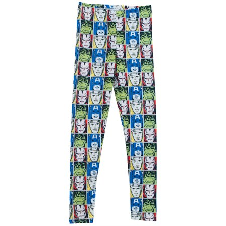 The Avengers All Over Pattern Marvel Comics Womens Leggings for $<!---->
