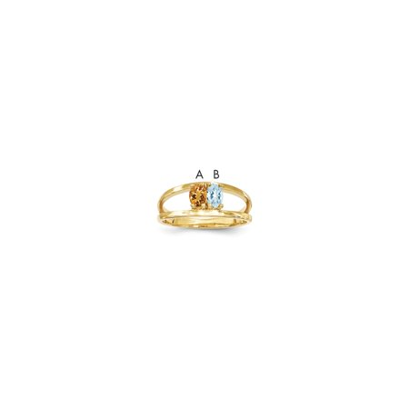 14K Yellow Gold Ring Band Family & Mother's Customize Stones Oval, Size 6