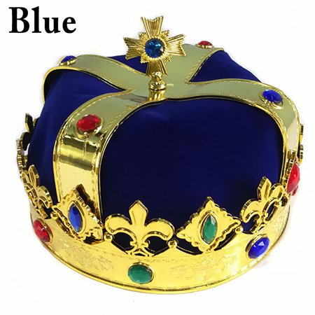 a11098be74e65 Creative King Crown for Royal King or Queen Costume Funny Party Crown  Decorative Rhinestone Prince Crown - Walmart.com