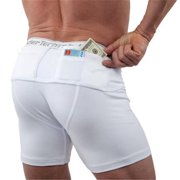 UTUC TS0562WH-S Mens Travel Safe Shorts, Small