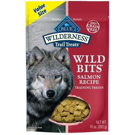 Blue Buffalo Wilderness Trail Wild Bits Salmon Recipe Grain Free Dog Training Treats, -
