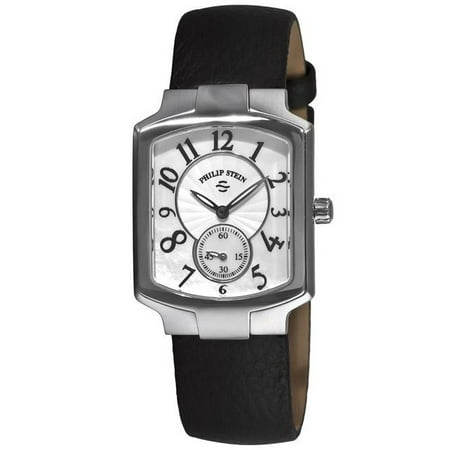 Philip Stein  Women's 'Signature Classic Tank' Black Strap Watch ()