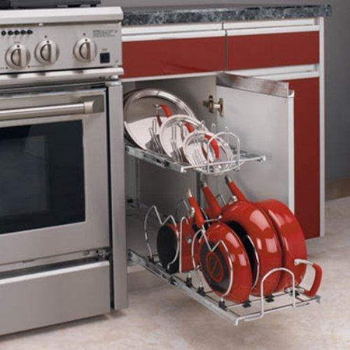 Rev-a-Shelf 5CW2-1222-CR 12 in. Two-Tier Cookware Organizer
