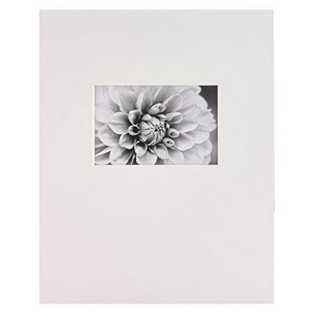 Nielsen Bainbridge GM06L Artcare By White 11x14 Pre-Cut Museum Quality Archival Picture Mat For 4x6 Photo, Landscape Opening