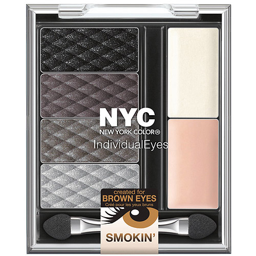 NYC Individual Eyes Custom Compact, 941 Smokey Browns, 0.326 oz