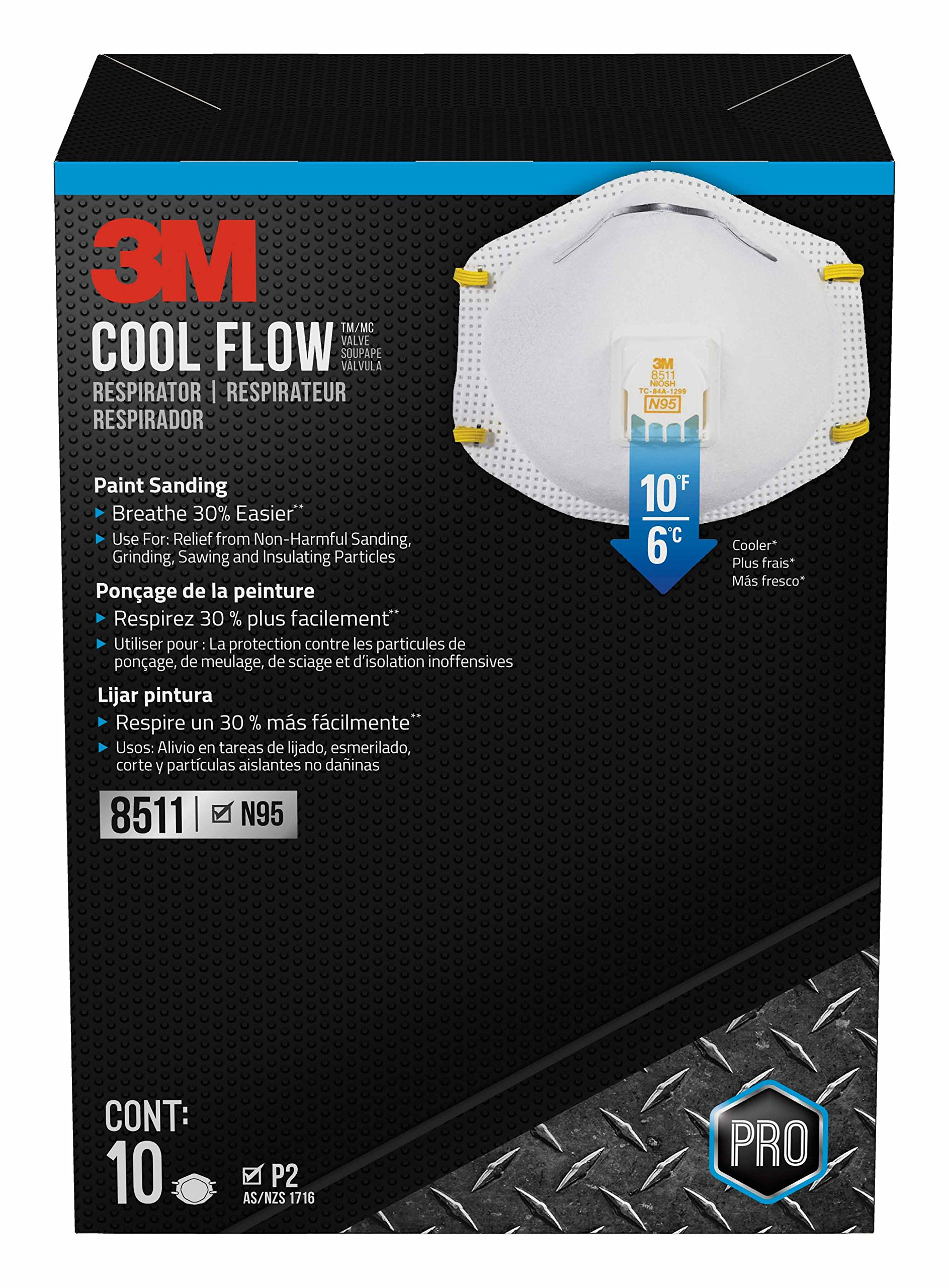 3m com Walmart Respirator Valve With 8511 10-pack Particulate N95 -