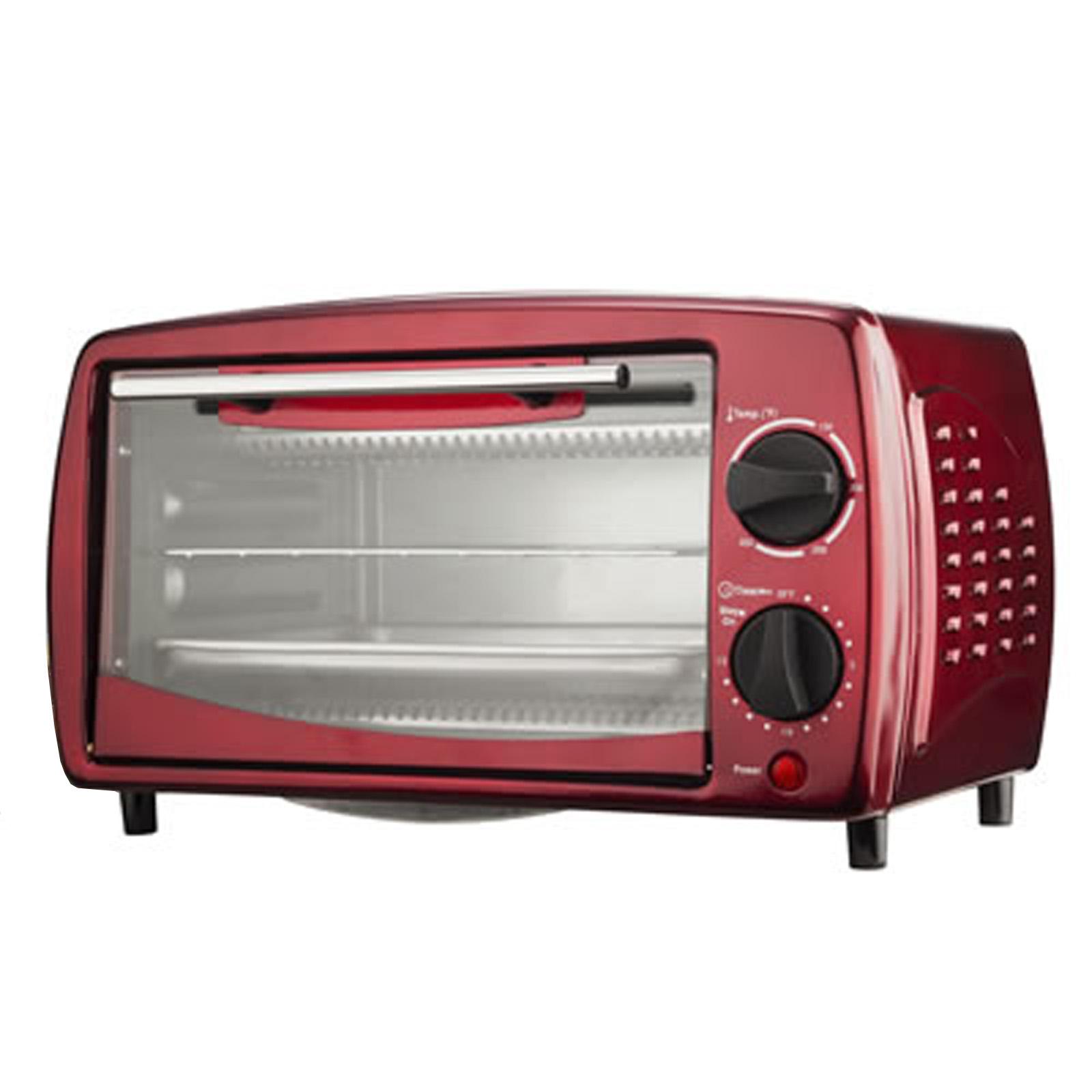 Brentwood 9-Liter (4 Slice) Toaster Oven Broiler (Red)
