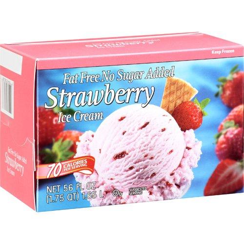 Great Value Fat Free Strawberry Ice Cream, 1.75 qt