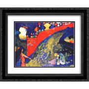 Wassily Kandinsky 2x Matted 24x20 Black Ornate Framed Art Print 'Red Wall destiny'