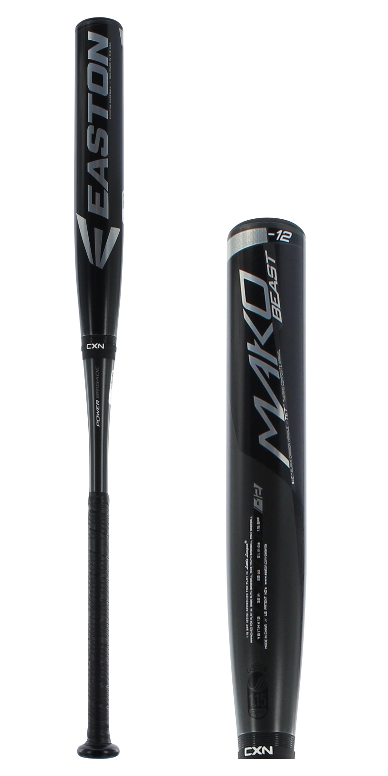 Click here to buy 2017 Easton MAKO BEAST Youth Baseball Bat: YB17MK12 by Easton.