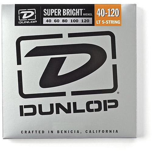 Dunlop - DBSBN40120 - Super Bright Nickel-Plated Steel Bass 5 String Set - .40-.120