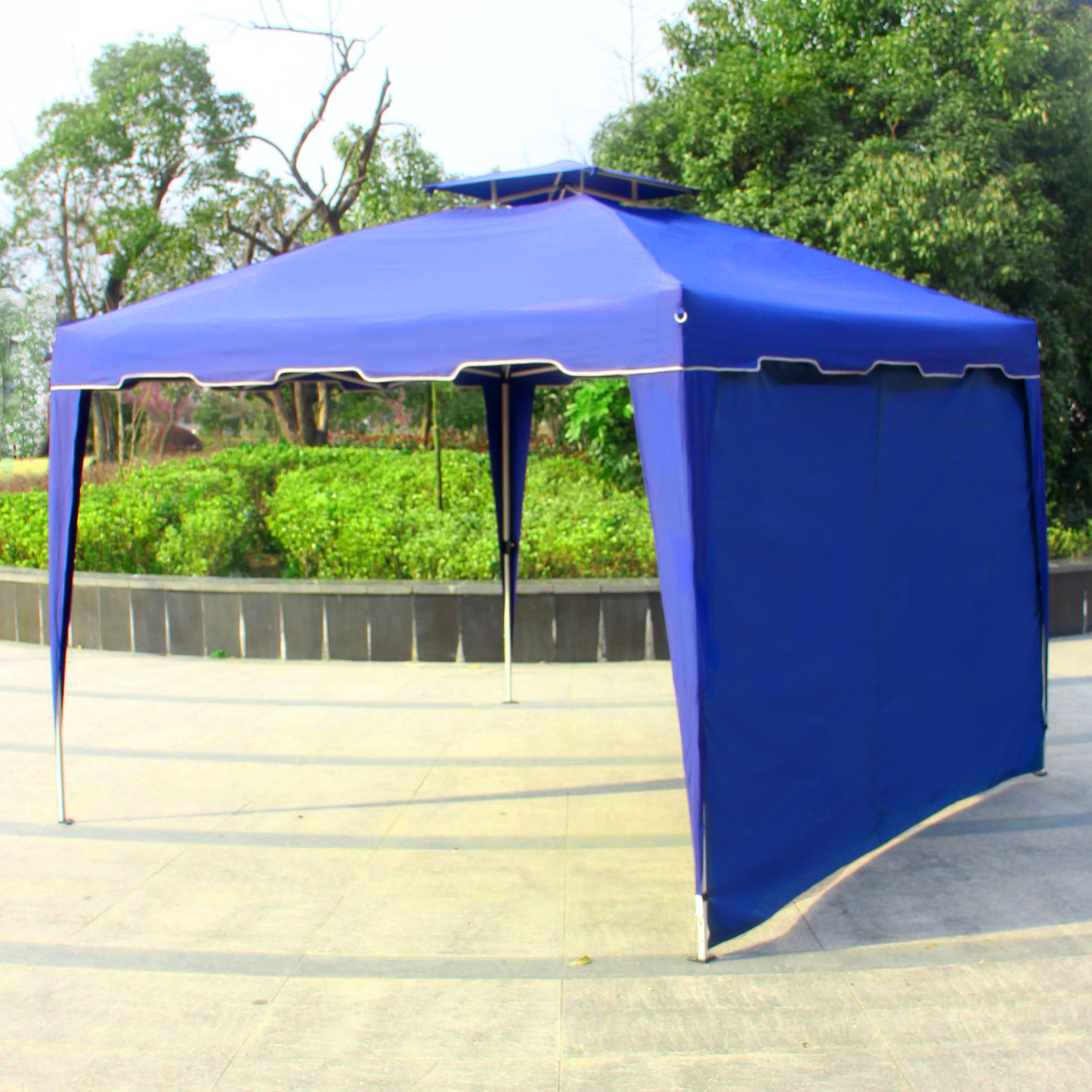 Cloud Mountain 1 PC Wall Side Gazebo Wind and Sun Shade Privacy Panel Curtain Replacement, 5 Colors to Choose (Only One Side Wall)