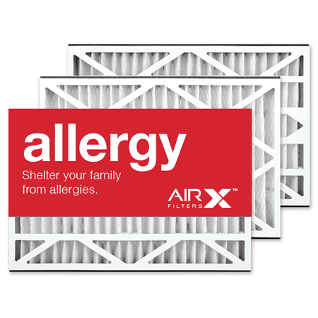 AIRx Filters Allergy 16x25x3 Air Filter MERV 11 Replacement for Lennox X0581 X5427 to Fit Media Air Cleaner Cabinet Lennox Health Climate BMAC-12C, 3-Pack