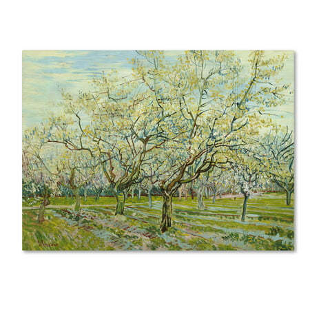 Trademark Fine Art 'The White Orchard' Canvas Art by Van Gogh (Van Gogh Halloween)