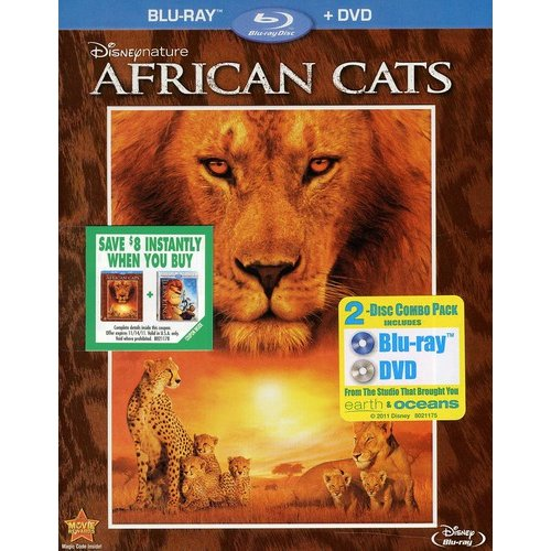 African Cats (Blu-ray   DVD) (Widescreen)