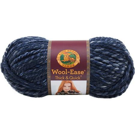 Lion Brand Wool-Ease Thick & Quick River Run Yarn, 1 Each 4 Ply Wool Yarn