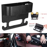 Universal Truck Auto Car Seat Seam Wedge Cup Holder Seat Back Organizer With 2 Hooks Food Drink Bottle Mount Storage Organizer Cellphone Holder Coin Side Pocket