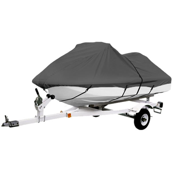 "Gray Trailerable PWC Personal Watercraft Cover Covers Fits 1-2 Seat Or 116""-126"" Length Waverunner, Sea Doo,... by KapscoMoto"