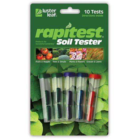 Rapitest Soil Tester 1609CS, Economical soil test kit for testing soil pH, Nitrogen (N), Phosphorus (P) and Potash (K) By Luster