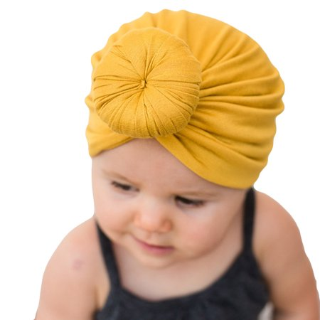 George Yellow Hat (Outtop Baby Turban Toddler Kids Boy Girl India Hat Lovely Soft)