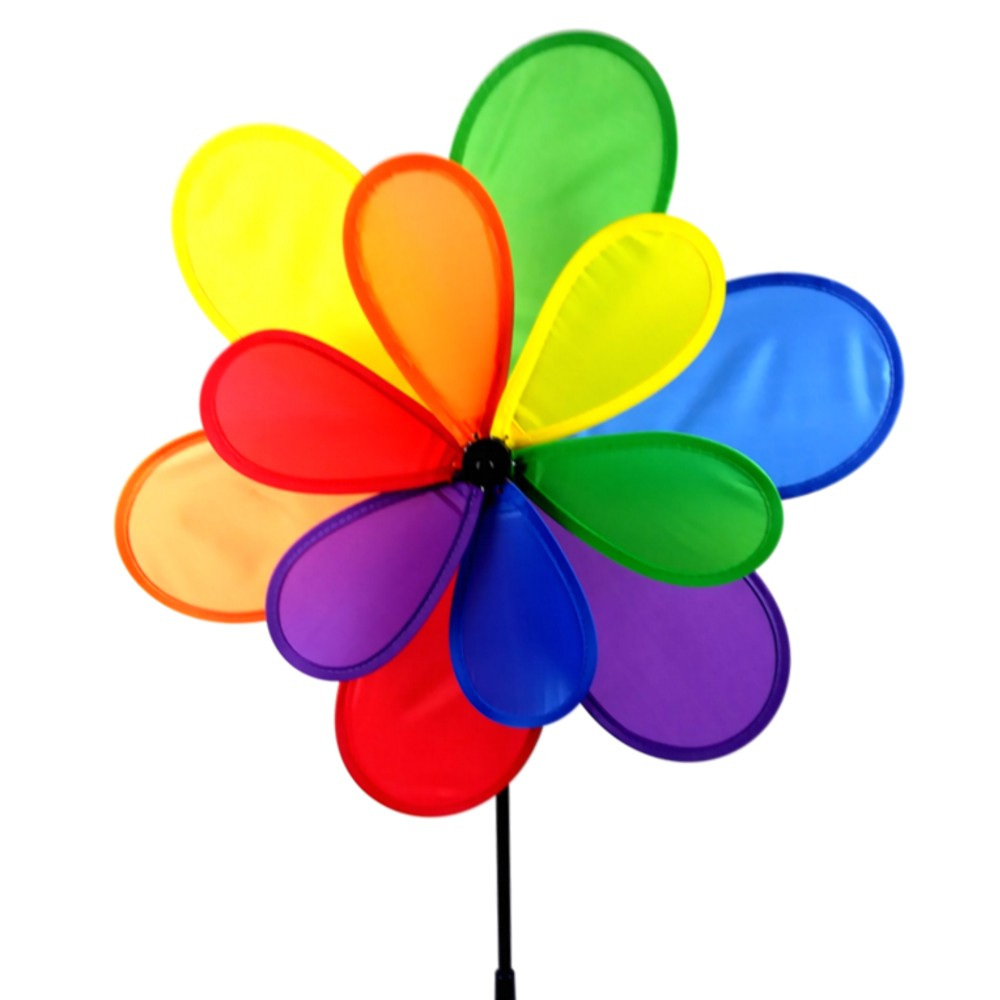 15 Inch Multi Colored Yard Pinwheel