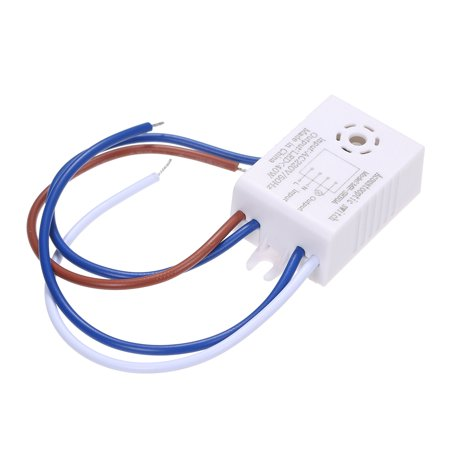 AC220V 40W(Max.) Mini Sound Activated Sensor Inductor Adopted Sensitive Light Control for Lighting Fixture Lamp Living Room Bedroom Corridor Aisle Portable - image 2 of 6