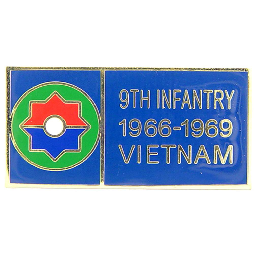 U.S. Army 9th Infantry Division Vietnam Pin 1 1/8""