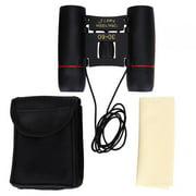 Khall 1pc 30 * 60 Portable Lightweight Metal Dual Focusing Binoculars with Bag Lanyard,Binoculars, Black Binocular