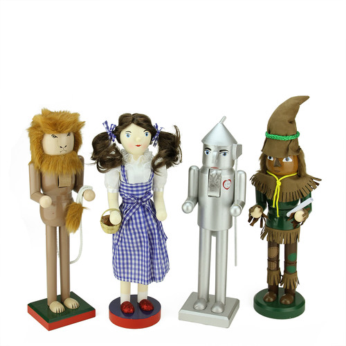Northlight Seasonal 4 Piece Decorative Wizard of Oz Wooden Christmas Nutcrackers Set