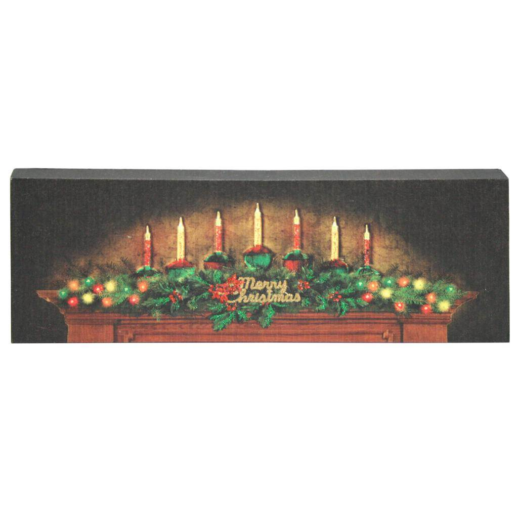 """Ohio Wholesale 47045 - 15"""" x 5"""" x 1"""" """"Lighted  and  Fibre Optic Bubble Lights"""" Battery Operated LED Lighted Canvas with Timer (Batteries Not Included)"""