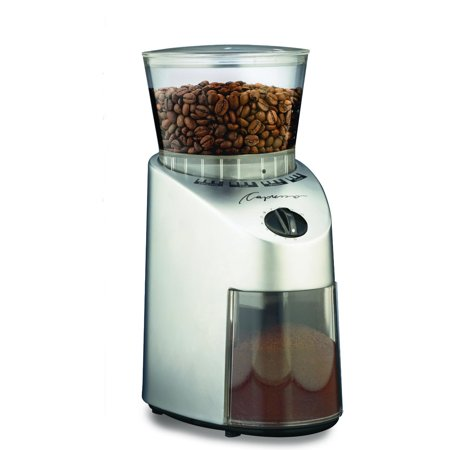 CAPRESSO 560.04 Coffee Grinder, 0.55 lb, 120V, Silver