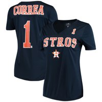 Women's New Era Carlos Correa Navy Houston Astros Name & Number T-Shirt