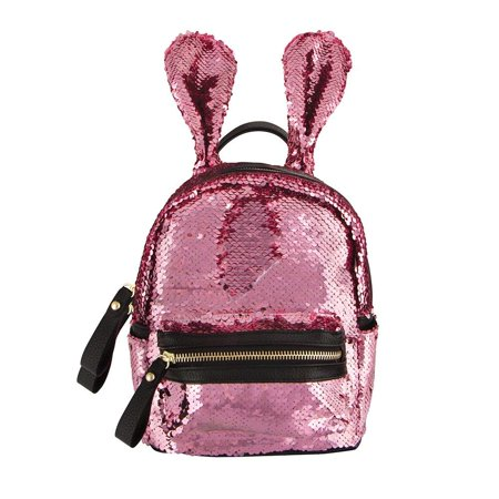 Style.Lab Fashion Angels Magic Sequin Reveal Pillow-Fueled by Crystals Mini Backpack, Pink - Sequin Pink Backpack