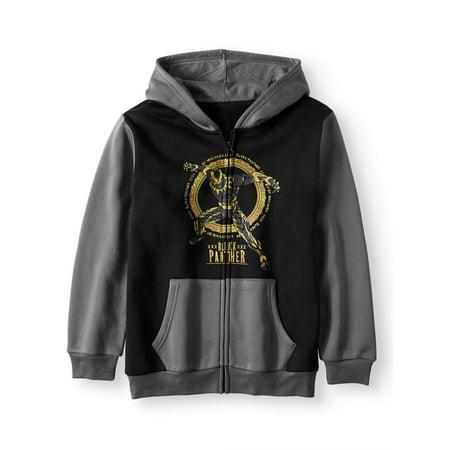 Black Panther Zip up Fleece Hoodie (Big Boys)