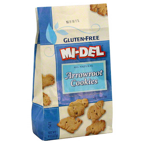 MI-DEL Gluten-Free All Natural Arrowroot Animal Cookies, 8 oz (Pack of 12)
