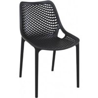 Air Outdoor Dining Chair  Black - Set of 2
