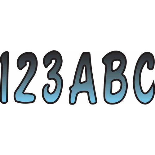 "Hardline Series 200 Registration Kit, Cursive Font with Top-to-Bottom Color Gradations (Includes 4 Set of 3"" A-Z, 0-9)"