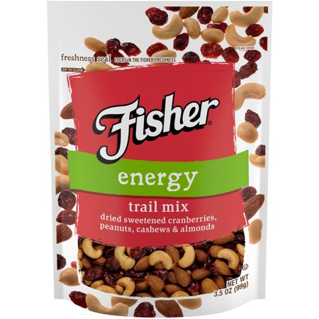 (3 Pack) Fisher Snack Energy Trail Mix, Stand-Up Bag, 3.5 oz - Trail Mix For Halloween