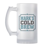 Personalized Any Message Frosted Beer Mug - Available in 4 Colors