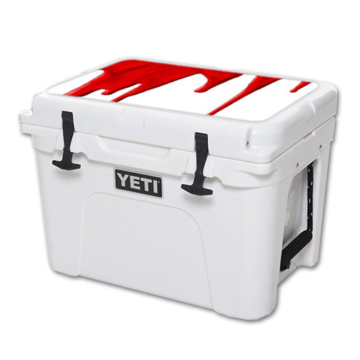 MightySkins Protective Vinyl Skin Decal for YETI Tundra 35 qt Cooler Lid wrap cover sticker skins Blood Drip