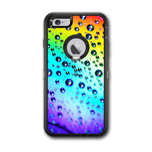 Skin Decal For Otterbox Defender Iphone 6 Plus Case / Rainbow Water Drops