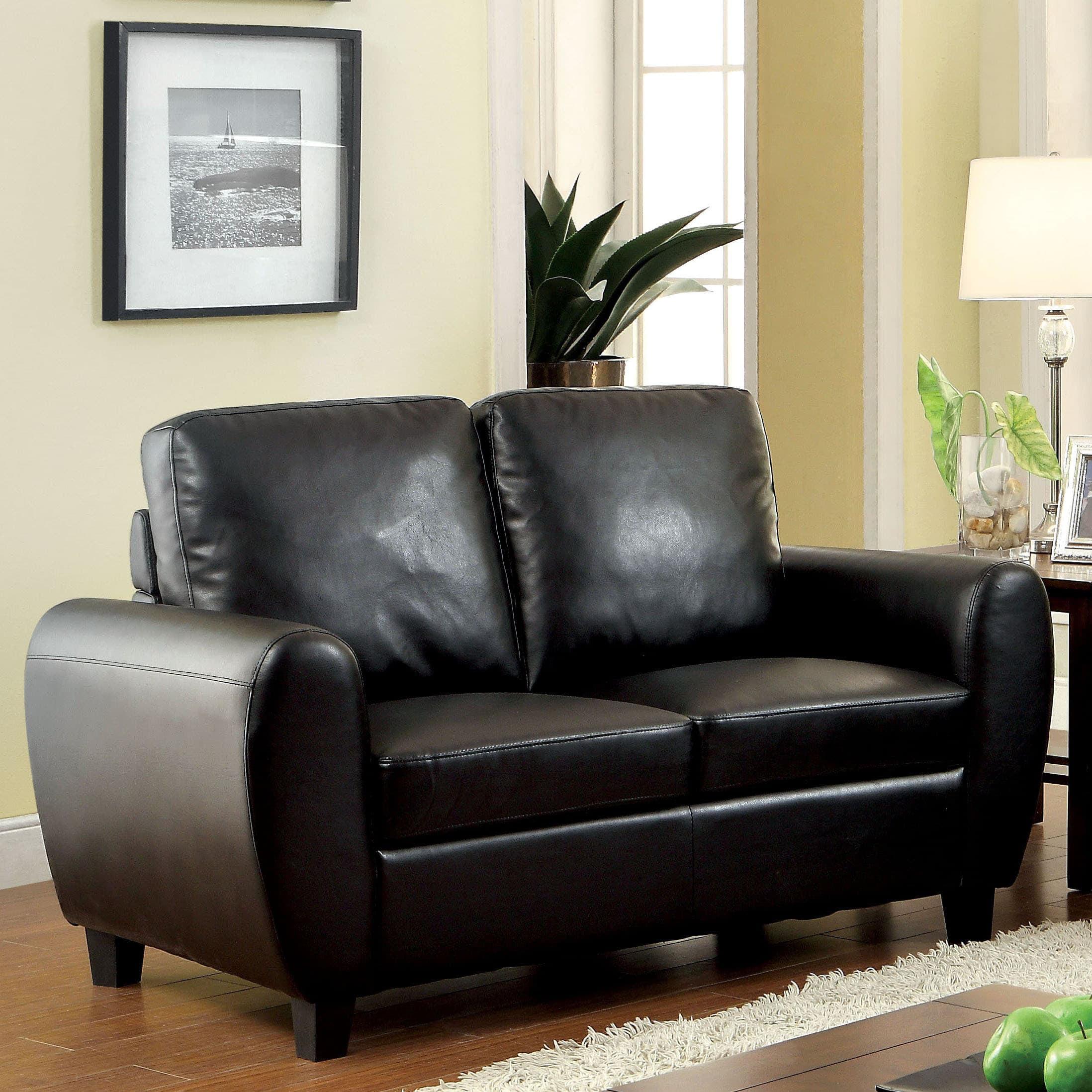 Furniture of America  Tawnee Modern Leatherette Loveseat