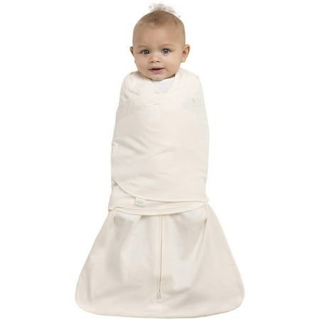 HALO SleepSack Swaddle, 100% Organic Cotton, Cream, Newborn