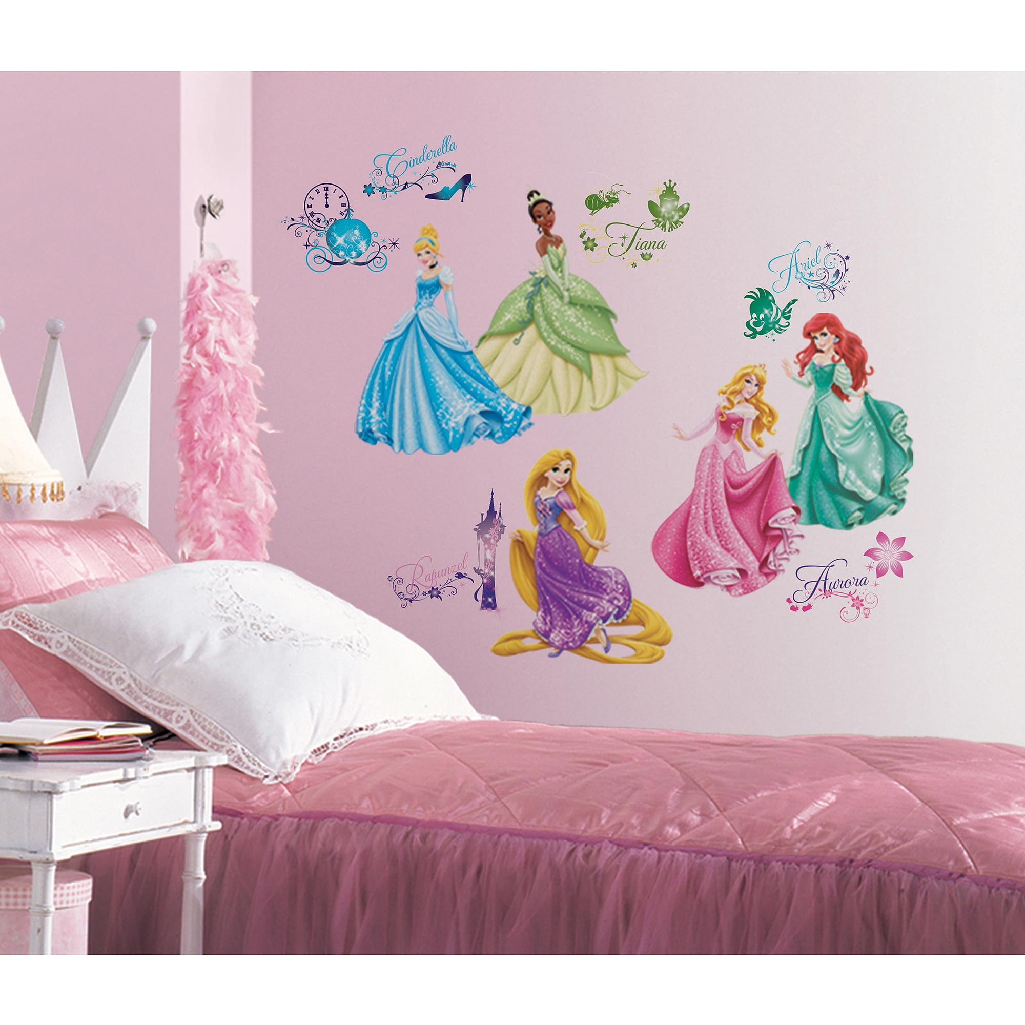 Disney Princess Wall Decor disney princess royal debut peel-and-stick wall decals - walmart