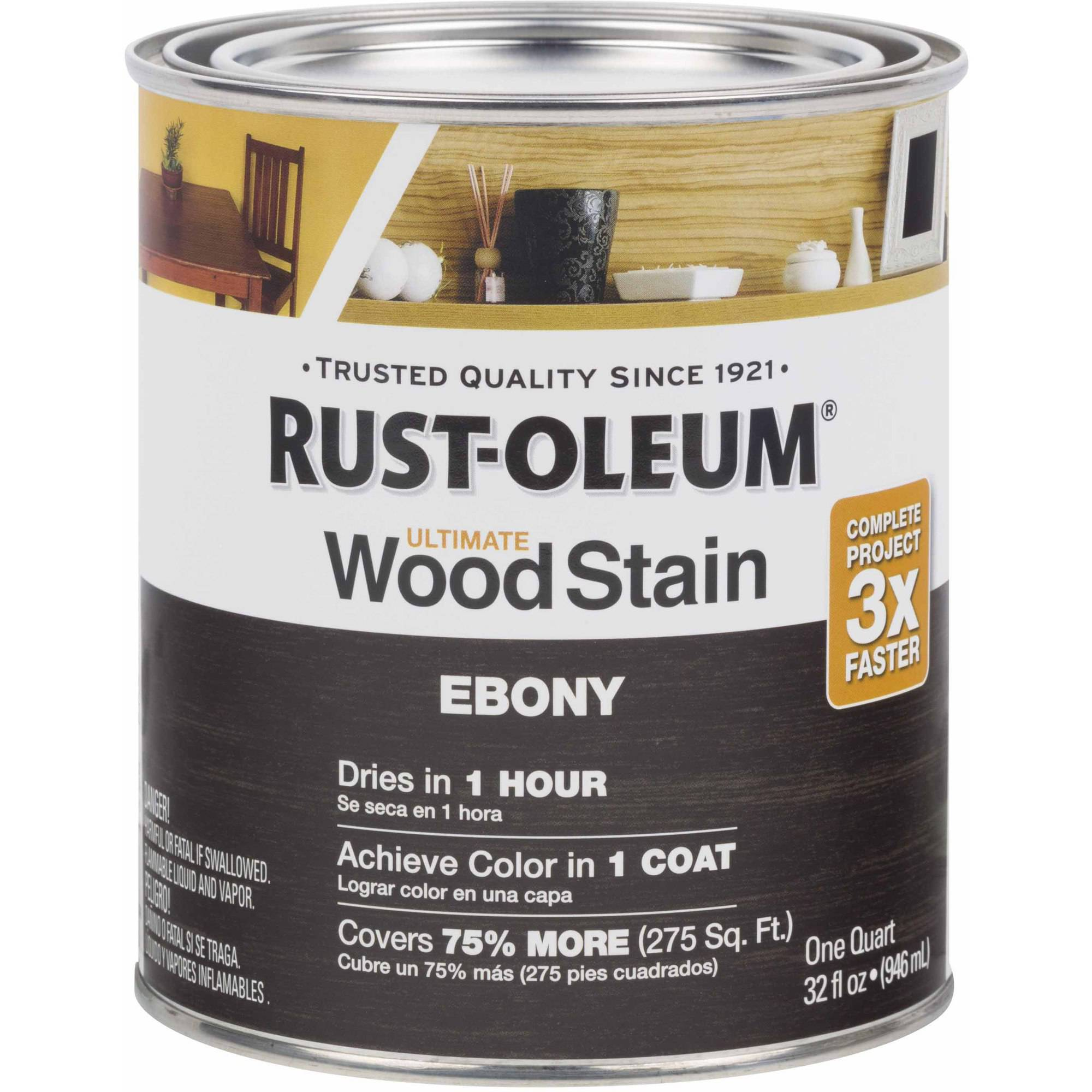 Rust-Oleum Ultimate Wood Stain Quart, Ebony