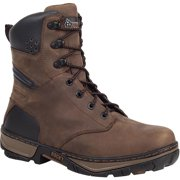 "Rocky Men's 8"" FORGE WP Brown Work-Utility Boots 9 M"