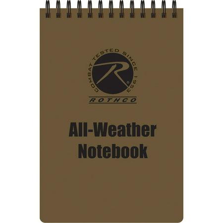 Coyote Brown - All Weather Waterproof Note Pad (4 in. X 6 in.)