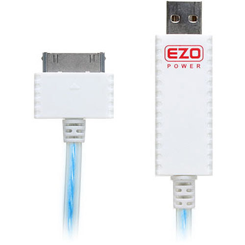 EZOPower iPod/iPhone/iPad Visible Flowing Current USB Cable