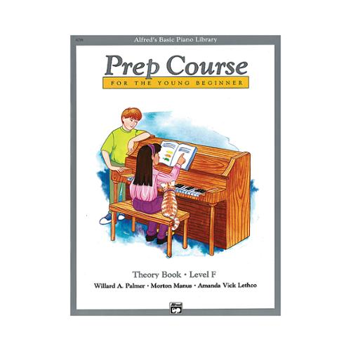 Alfred 00-6298 Basic Piano Prep Course- Theory Book F - Music Book